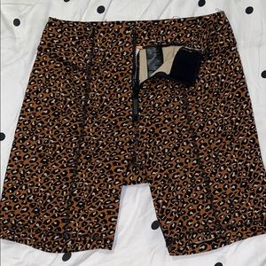 Free People spandex leopard print shorts